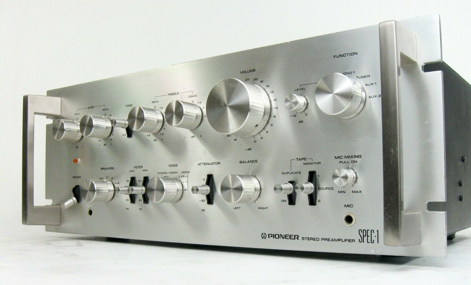 Pioneer spec-1 vintage stereo preamplifier preamp serviced