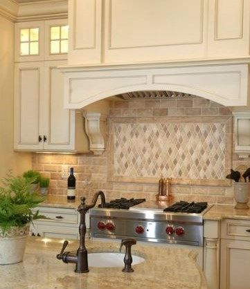 split face travertine backsplash  kitchen gallery | International Blog | Education and information on natural stone |