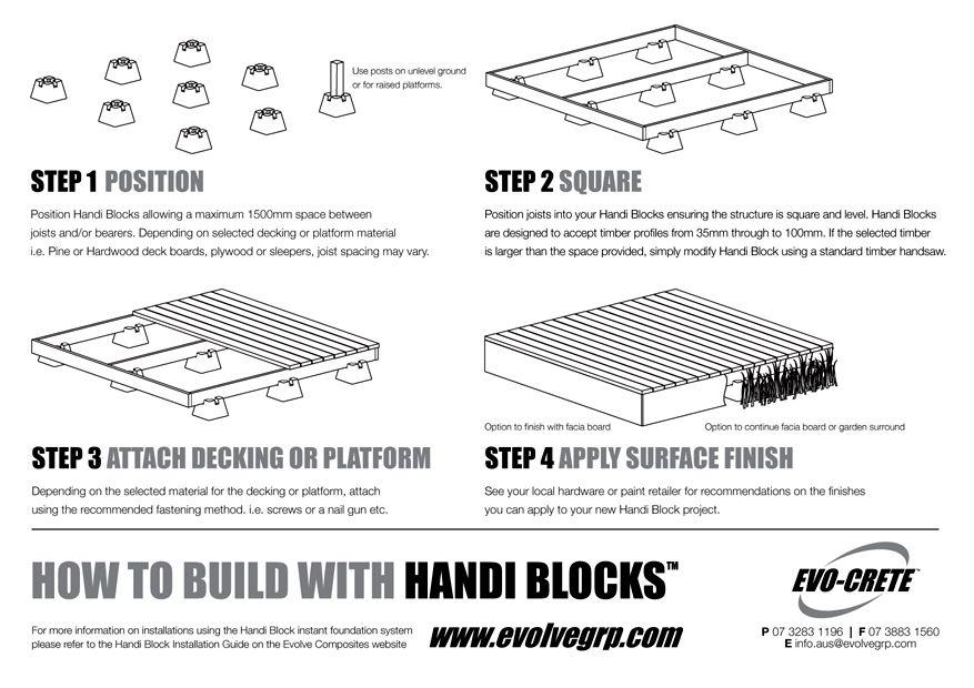 Deck Block Ing 2x8 Ideas