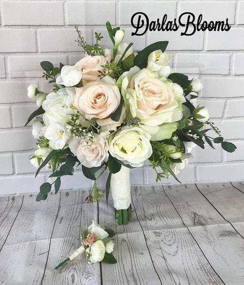 Wedding Bouquets Without Flowers: Blush Wedding Bouquet, Bridal Bouquet,Blush Wedding