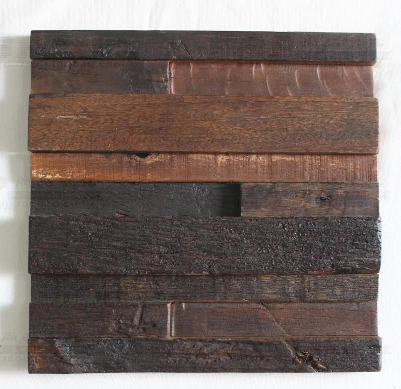 bande 3d bois naturel mosaïque tuiles dosseret de cuisine en bois ...