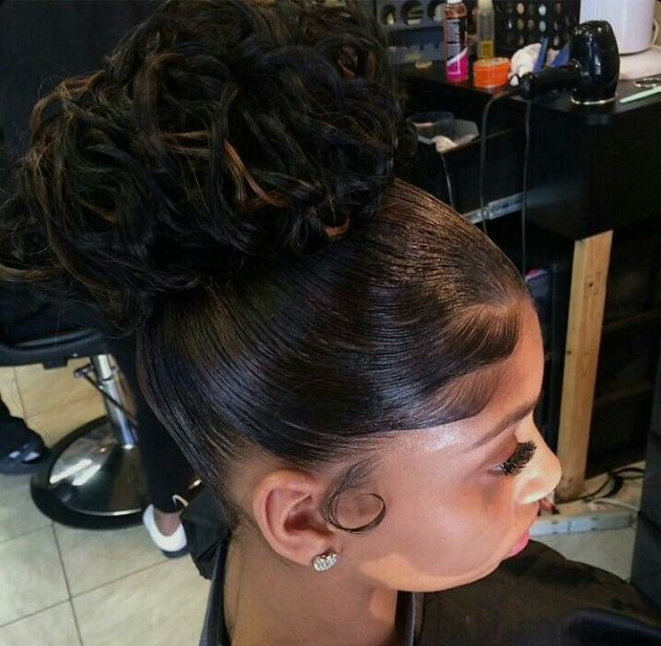 Up Do High Bun Black Hair High Bun Wedding Hair Prom Hair Hair Styles Natural Hair Styles Hair