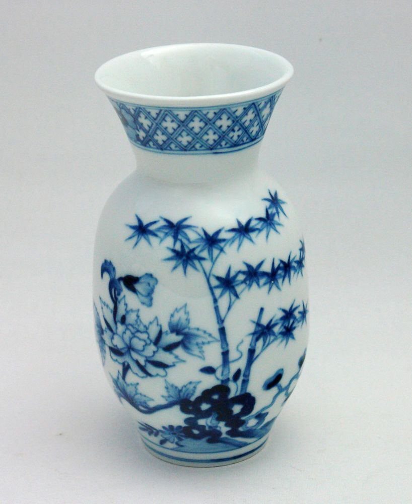Meissen Keramik: Meissen Vase Blaumalerei Fels- Und Blumenmalerei, 1.Wahl