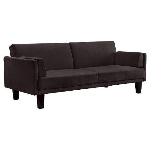 Metro Futon Sofa Bed Black 240 Microfiber
