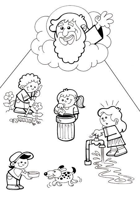 El rinc n de las melli dibujo cuidemos la creaci n para - Artigianato per cristiani ...