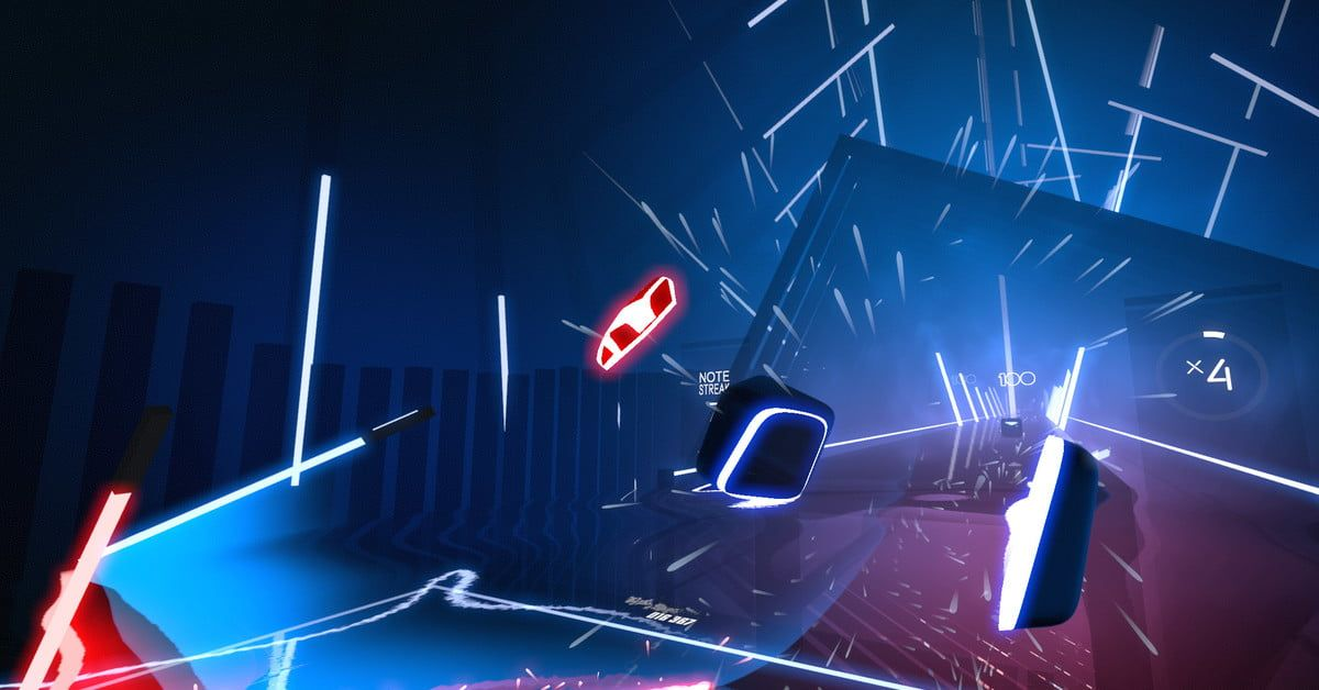 Beat Saber Is A Virtual Reality Game For Musical Jedi Digital Trends Virtual Reality Games Rhythm Games Vr Games