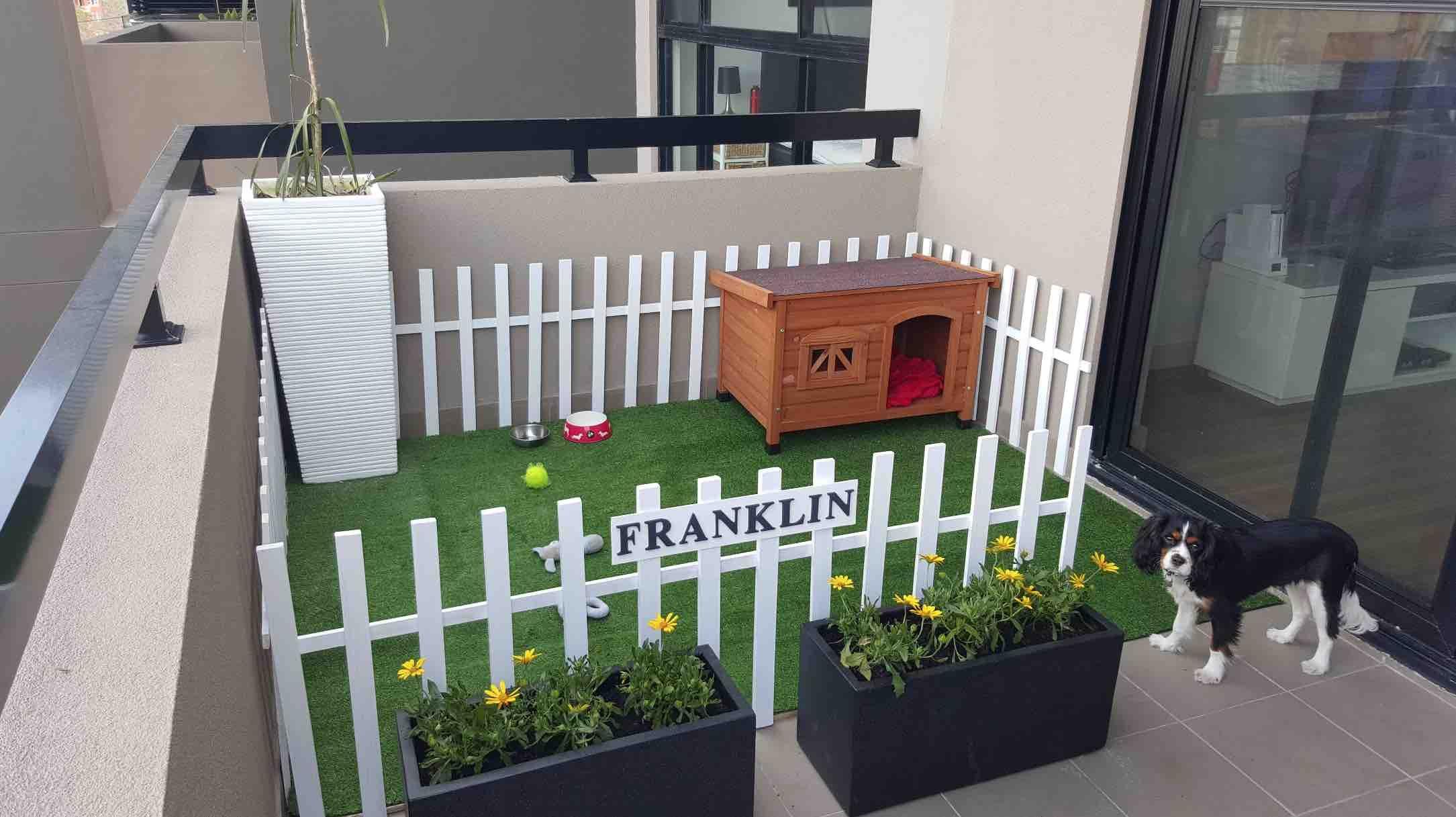 Asi Convirtieron Un Aburrido Balcon En Un Area De Juegos Para Su Perro Habitaciones De Perros Casas Para Perros Espacios Para Perros