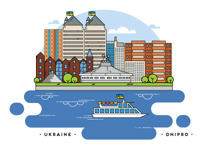 Dnipro city by Olga Zelenska