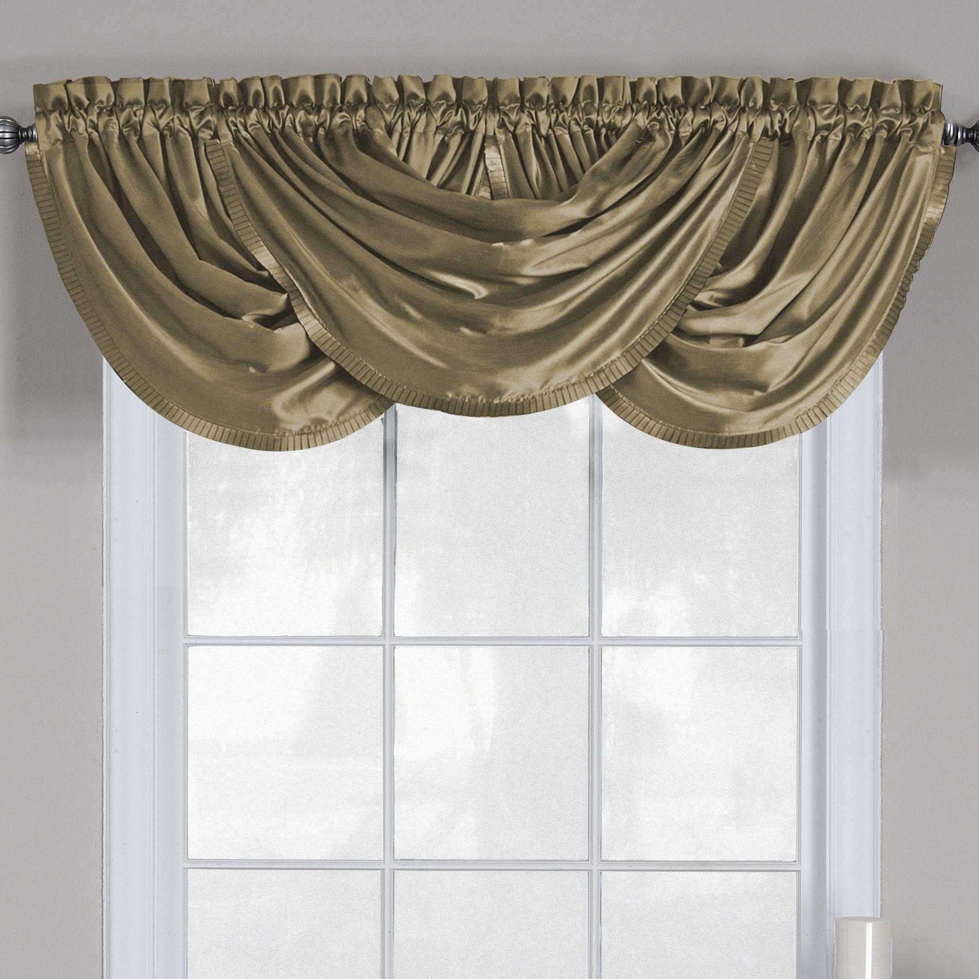 "Versailles 52"" Waterfall Curtain Valance"