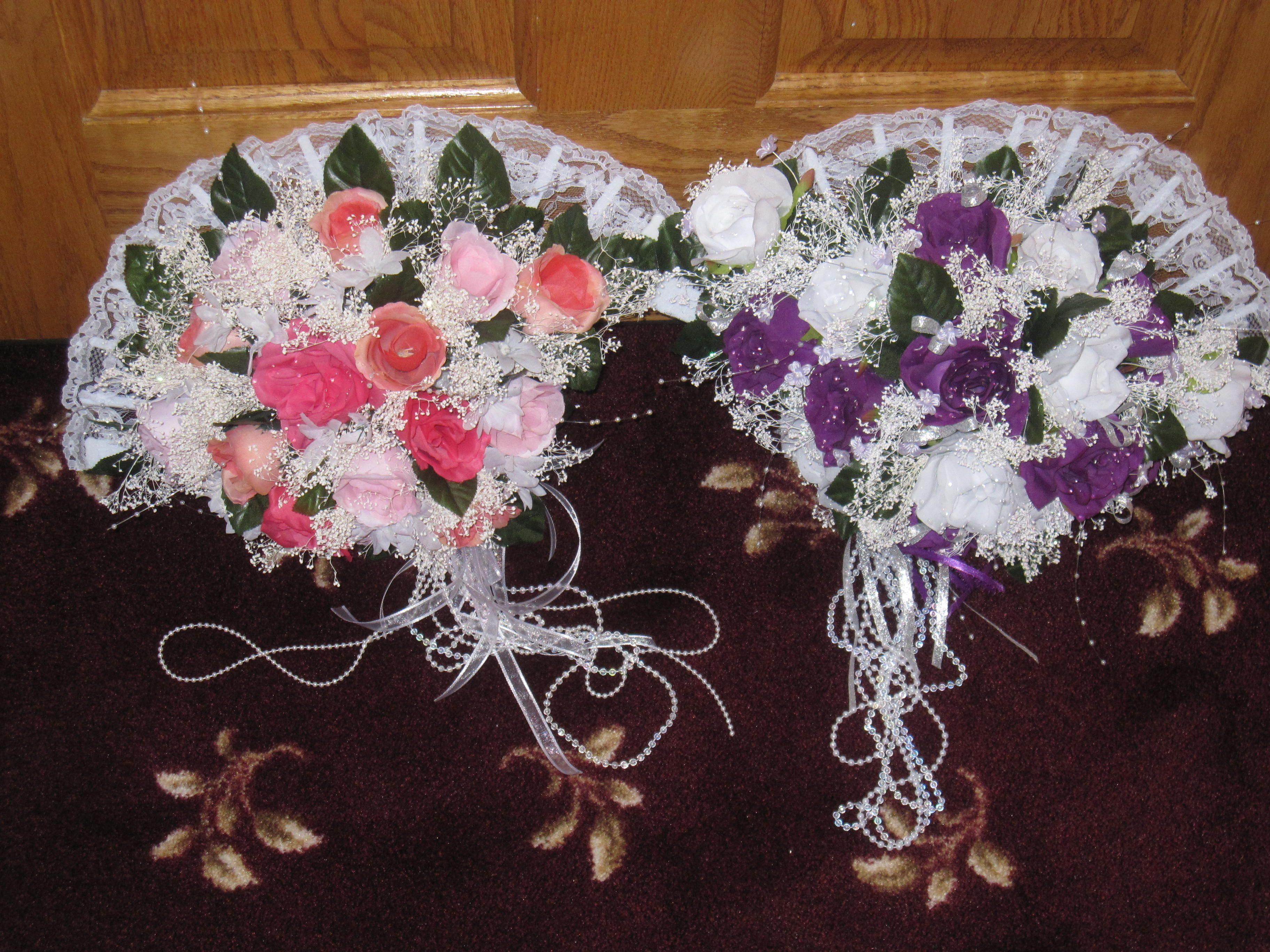 Bridesmaids Silk Flower Bouquets Silk flower bouquets