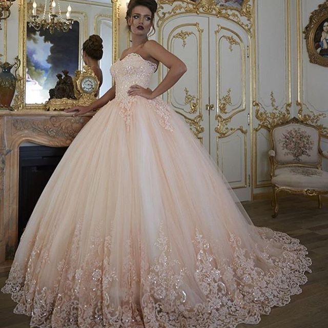 Glitter Wedding Gowns: Ball Gowns, Pink Wedding Dresses, Bridal Gowns