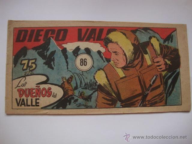 COMIC COMANDANTE ESPACIAL ESPACIO DIEGO VALOR Nº 86 DE LA COLECCION ORIGINAL DEL AÑO 1954. NO COPIA.