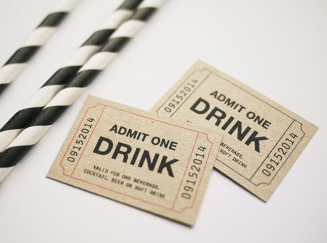 30 Free Printables For Your Next Cocktail Party Drink Ticket Wedding Invitation Paper Printable Wedding Invitations