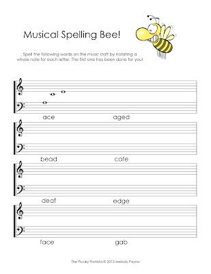 music spelling bee worksheet piano note reading pinterest discover more ideas about. Black Bedroom Furniture Sets. Home Design Ideas