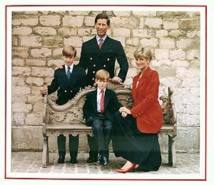 HRH Prince Charles And The Late Princess Diana With William Harry