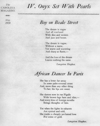 Langston Hughes poems featured in the May 1928 issue of the ...