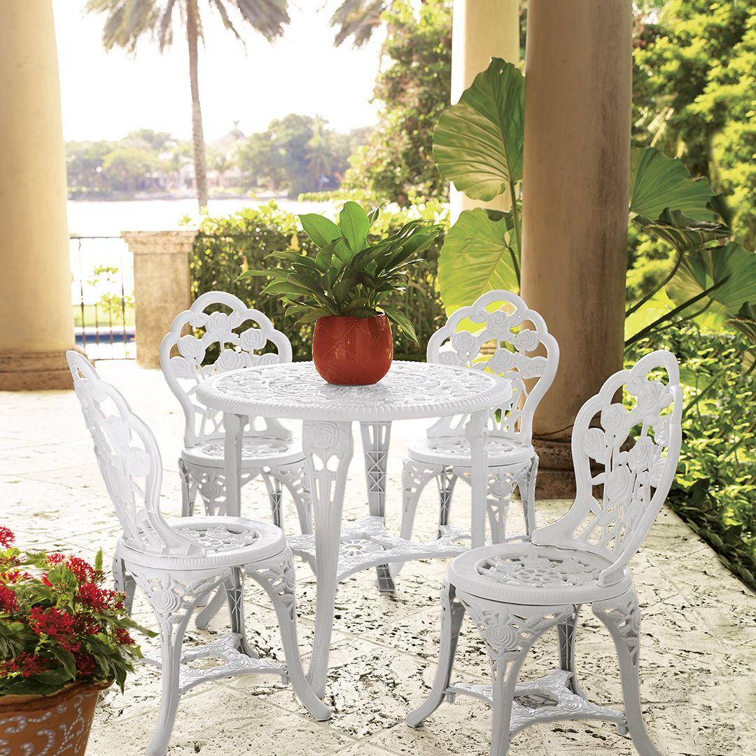 charming garden seating ideas native design | Our charming garden café outdoor furniture set brings the ...