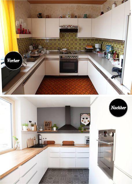 Before And After Ikea Kitchen 70s Bungalow Renovation Diy Wohn Projekt Der Mama Tochter Blog Fur Interior Diy De Kuche Renovieren Kuche 70er Wohnen