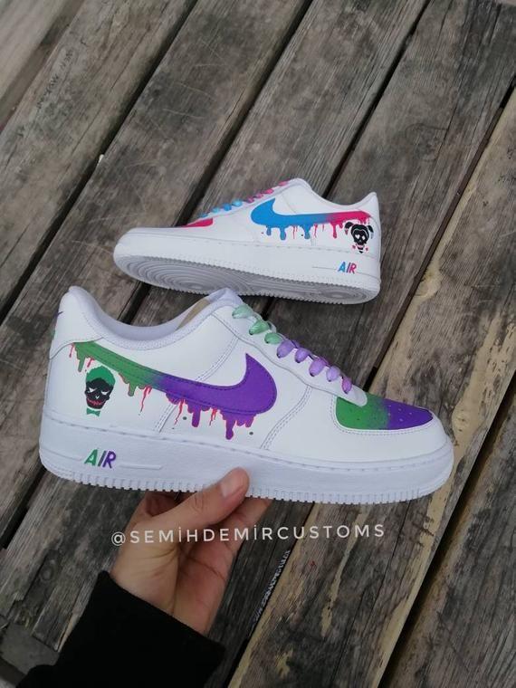 0e003a92 Custom Nike Air Force Joker and harley quinn,custom sneakers ...