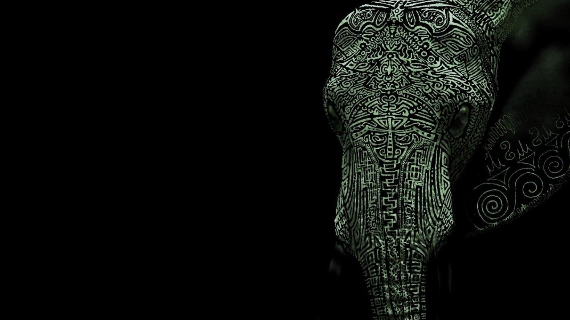 Elephant Art Wallpaper Wide Papeis De Parede Para Iphone 1080p
