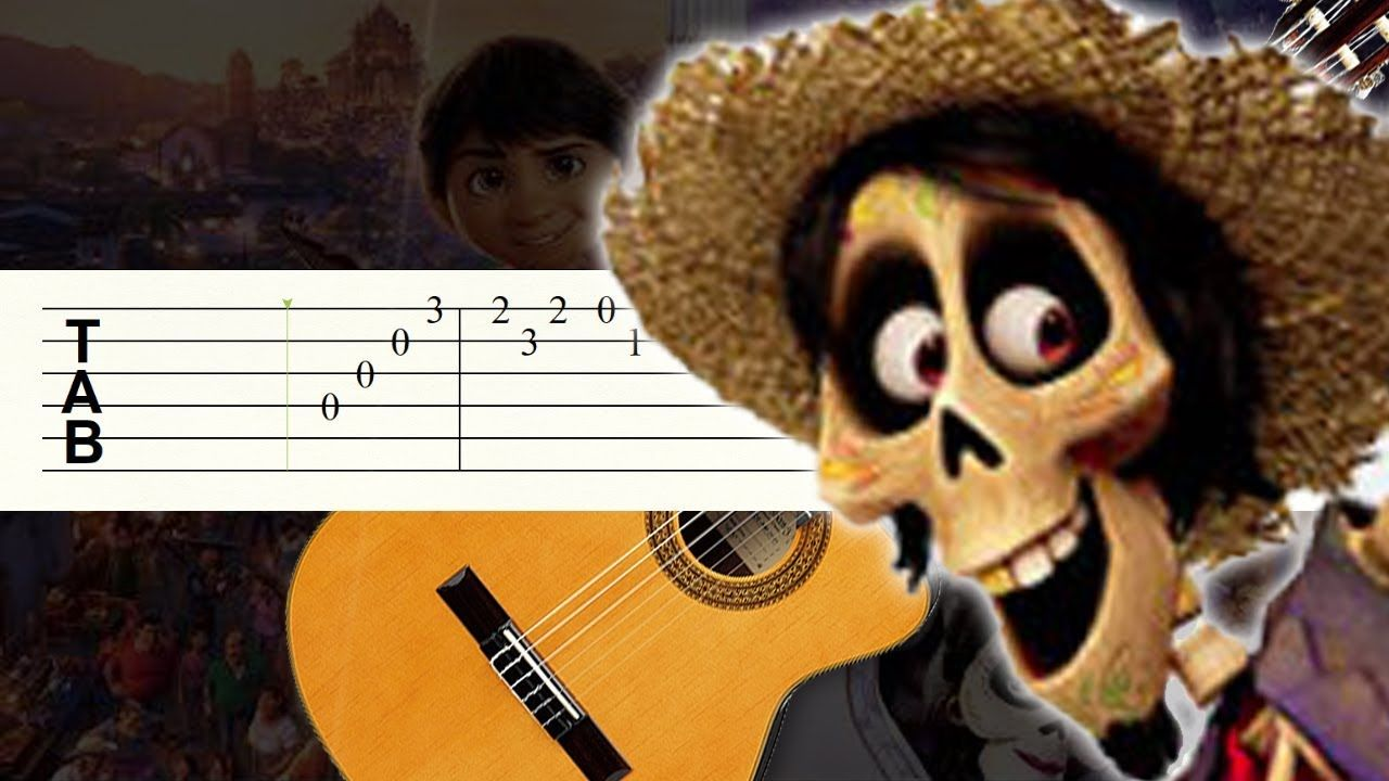 Un Poco Loco Coco Guitarra Tutorial Tablatura