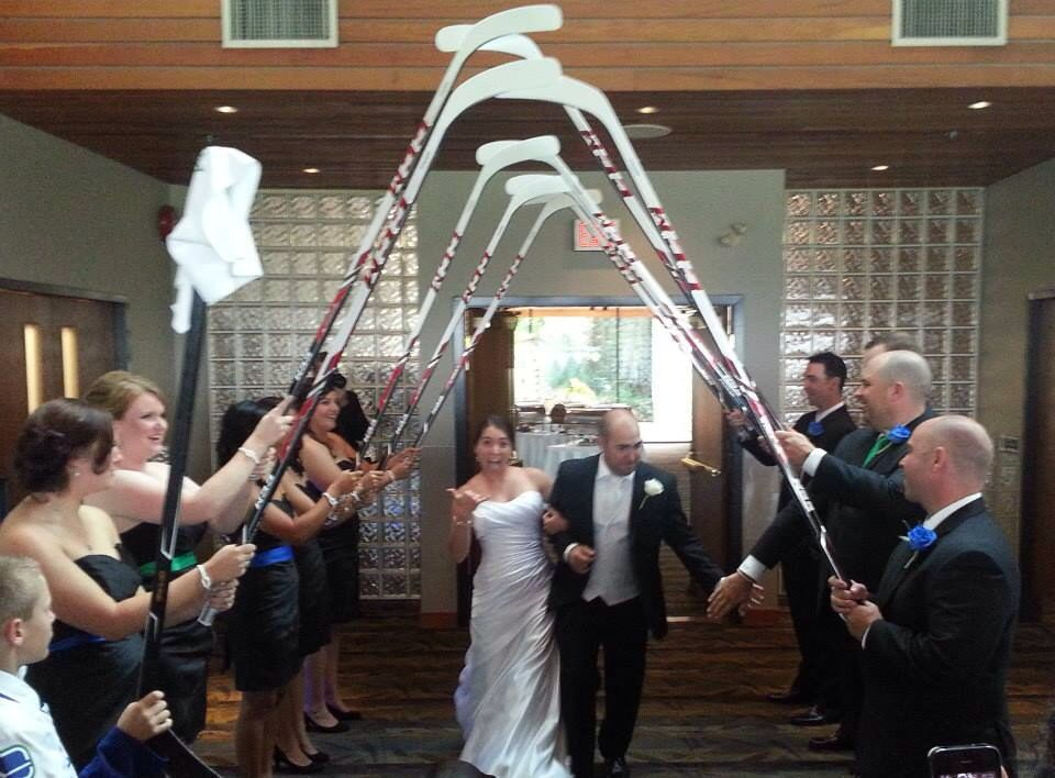 Pin On Casey Nate S Canucks Hockey Wedding