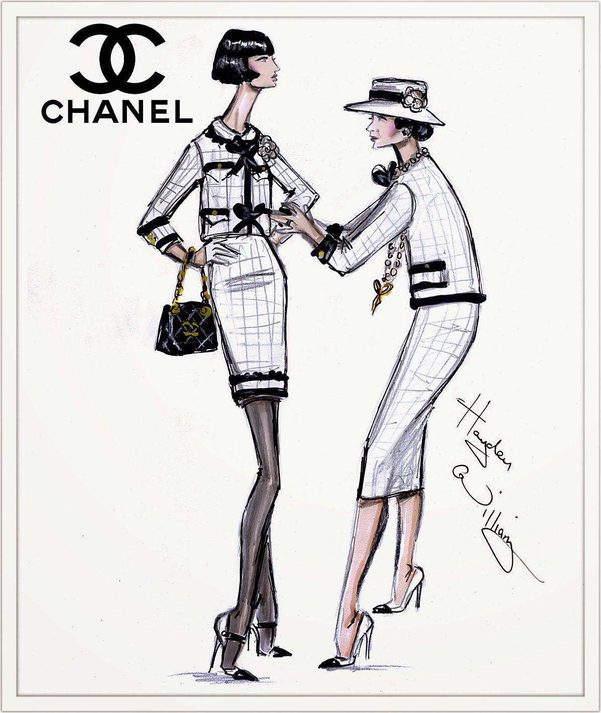 #Hayden Williams Fashion Illustrations #Happy Birthday Coco Chanel!