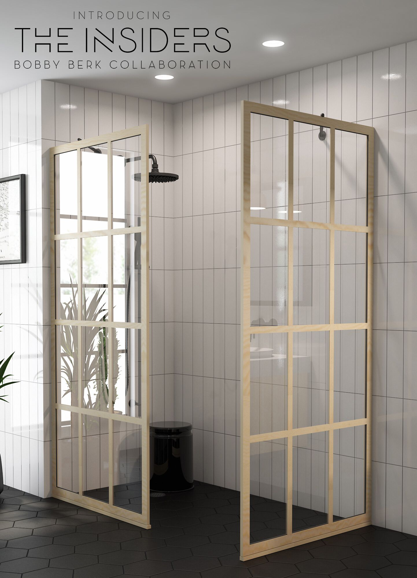 Bobby Berk Collaboration Aims To Make Art Out Of Shower Doors Coastal Shower Doors Shower Doors Gridscape Shower Door Small Shower Remodel