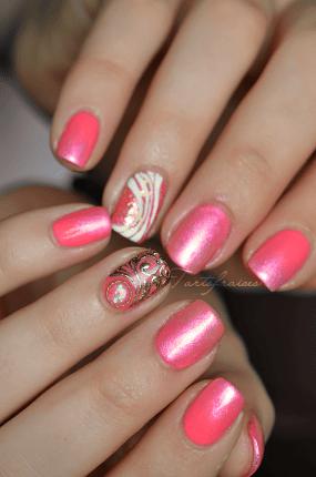 Nail Art Girly Gel Facile Nails Pinterest Salons