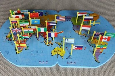 Montessori education materials world map flags and a stand free montessori education materials world map flags and a stand free shipping ebay gumiabroncs Choice Image