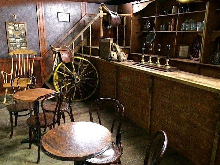 An old american western saloon film set setdesign
