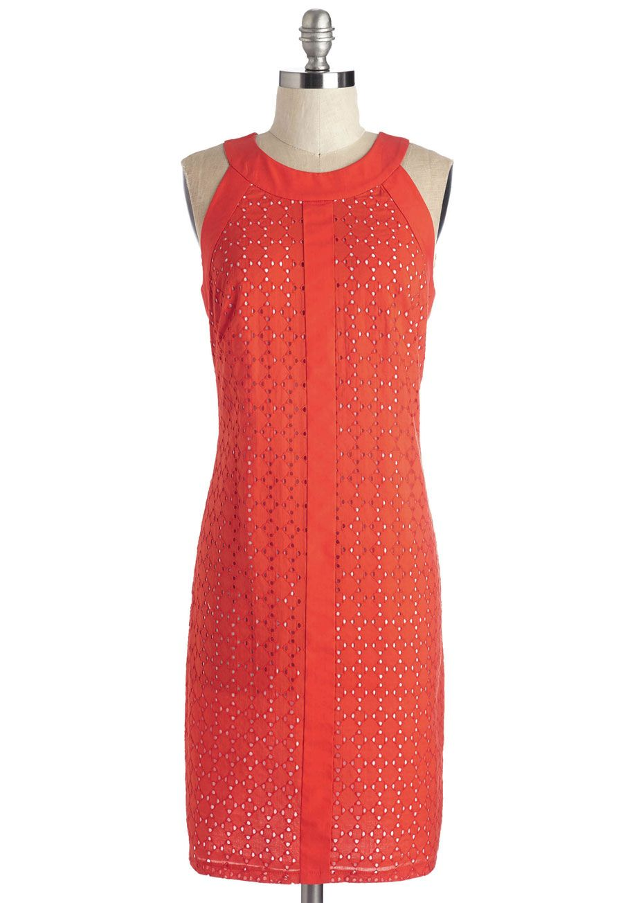 6fbfcedbee Honored Zest Dress. Tonights fete is all about you - live up the attention  in this energetic red shift dress!  red  modcloth