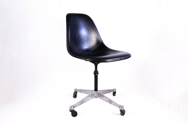 MINT Condition Eames Herman Miller Black Naugahyde Office