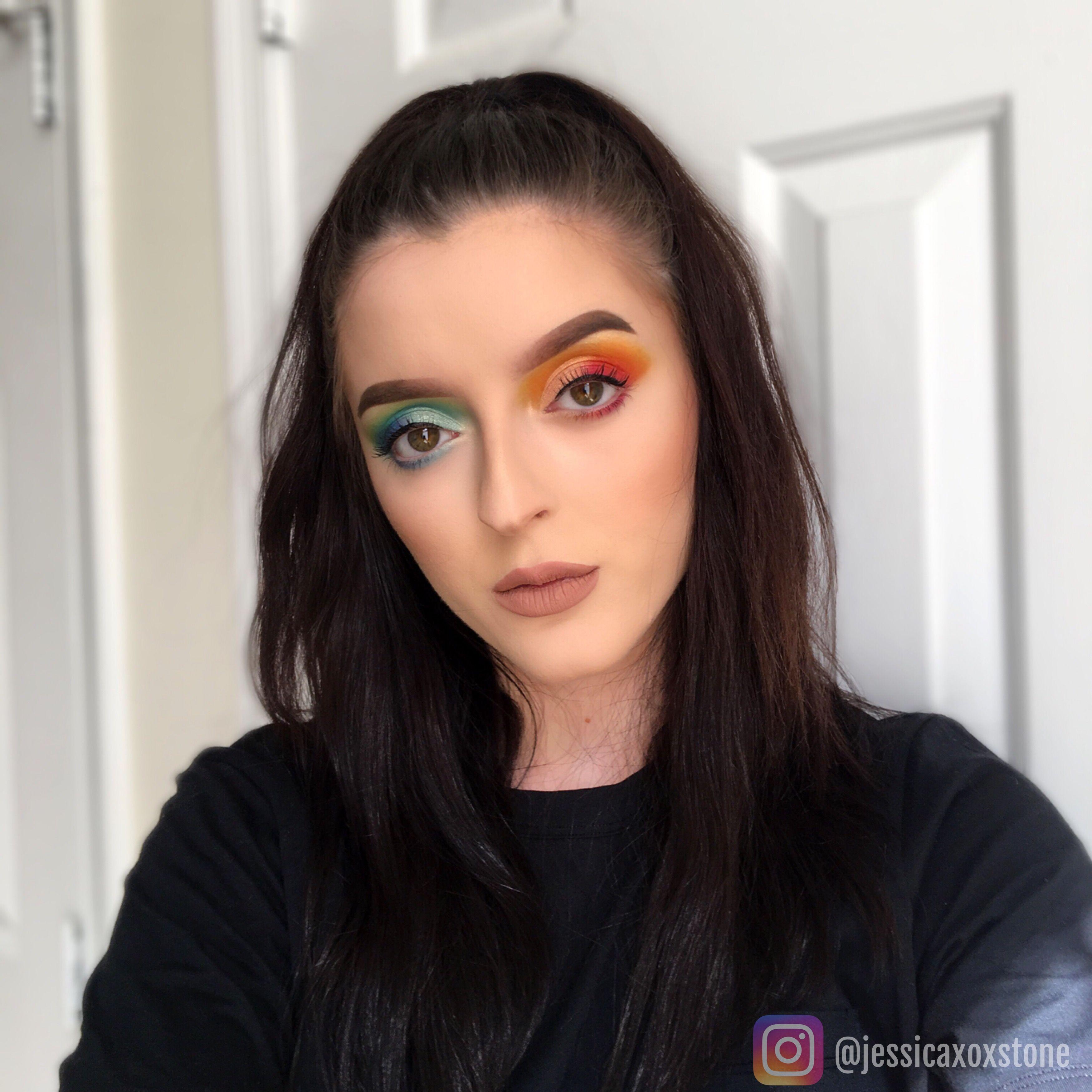 Warm and cool duo toned eyeshadow look using Laura Lee LA