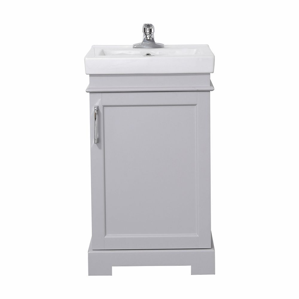 Hallcrest 20 Inch Combo With Mirror Dove Grey Vanity Bathroom Set