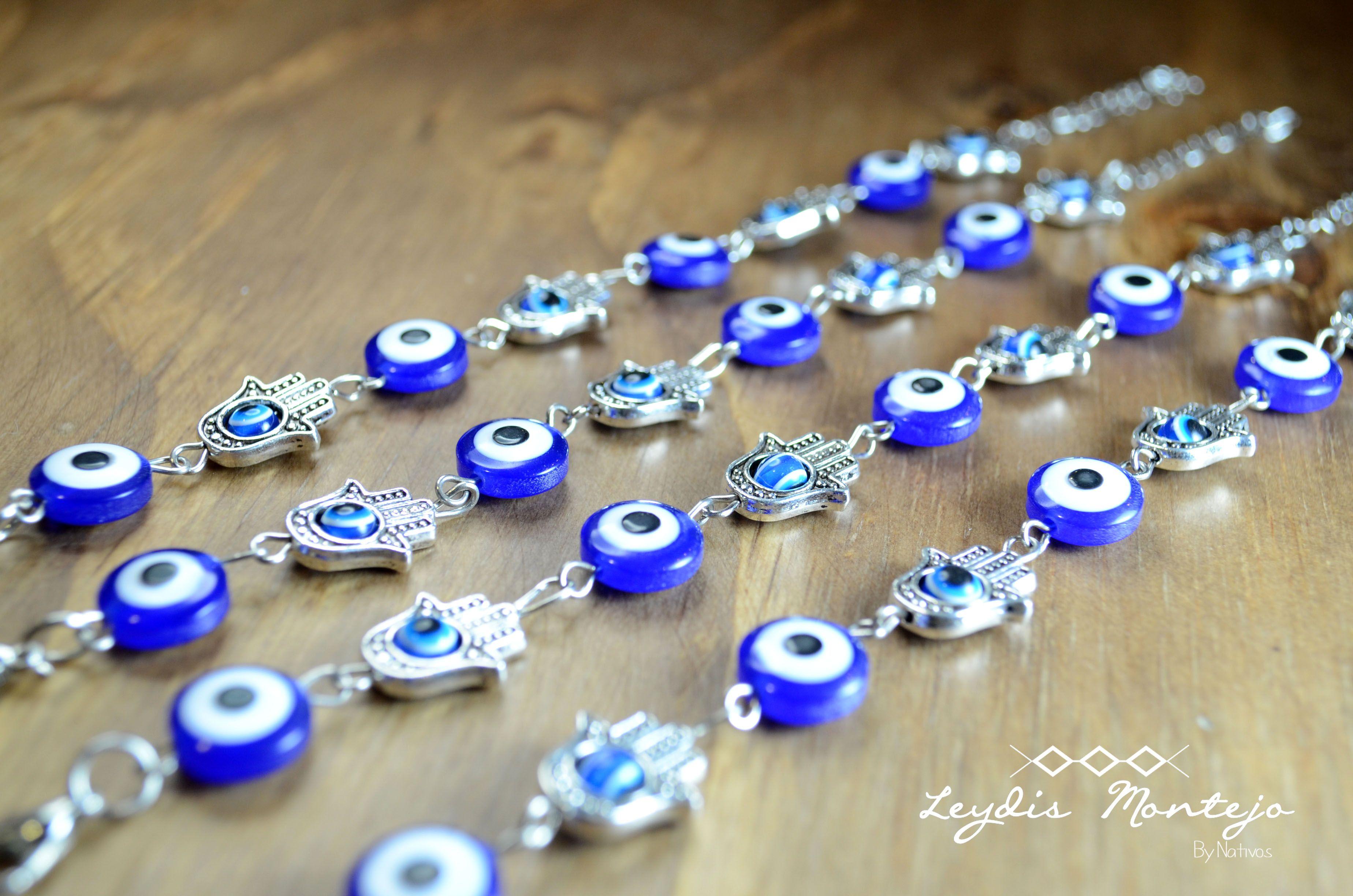 Pulsera mano y ojo protector. #Pulseras #Bracelets #Leydis Montejo #ComprasVirtuales #Valledupar #TalentoColombiano #Joyas #Bisuteria #Moda #Accesorios