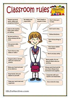 Resultado de imagen para classroom rules   english   Pinterest ...