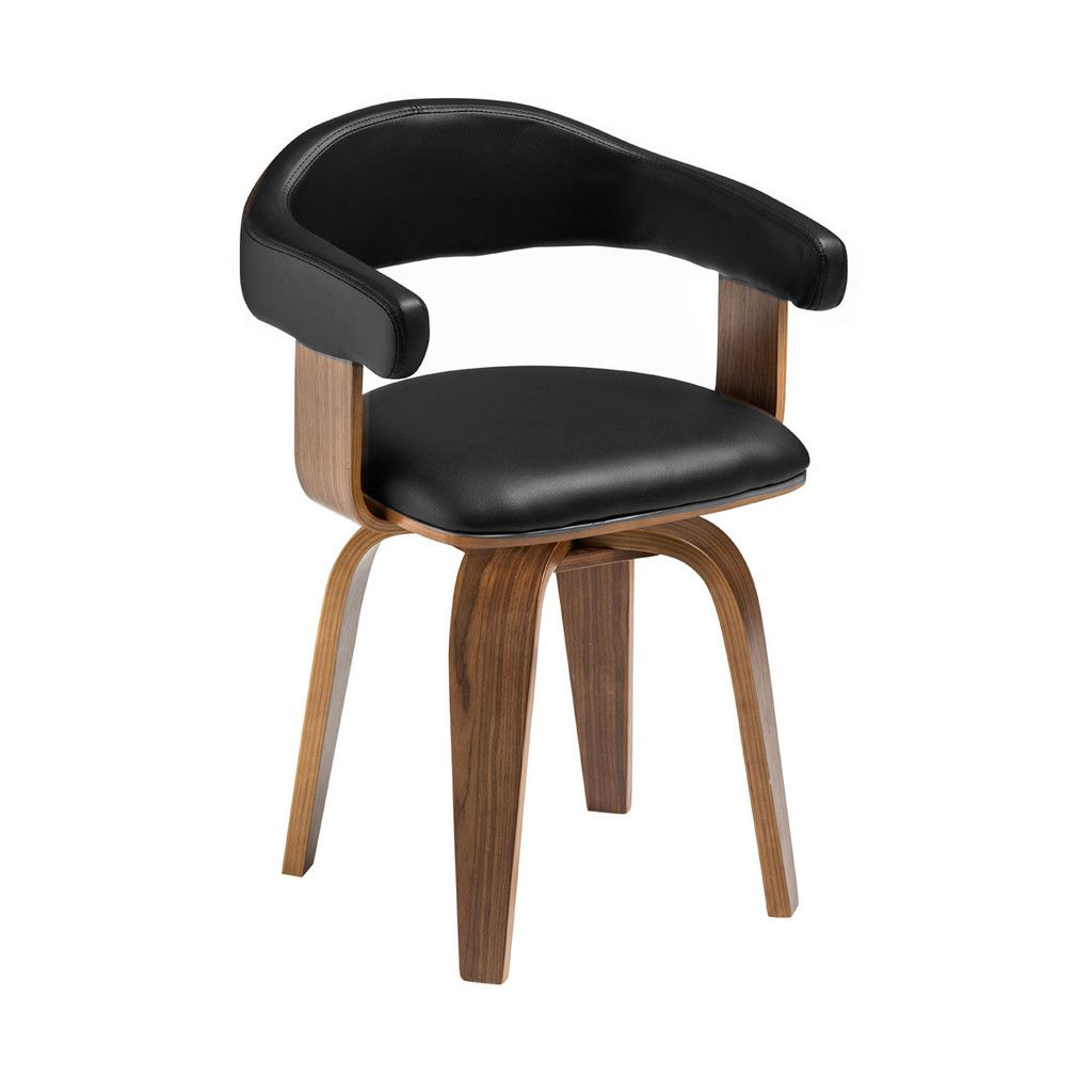 Bentwood Chair, Black Leather Effect | Bentwood chairs ...