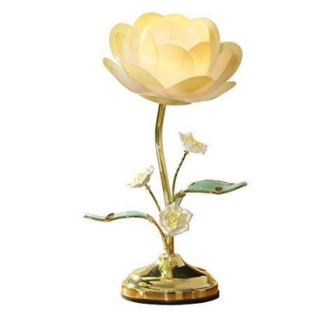Collections Etc Lotus Flower Table Touch Lamp Walmart Com Touch Lamp Flower Lamp Table Flowers