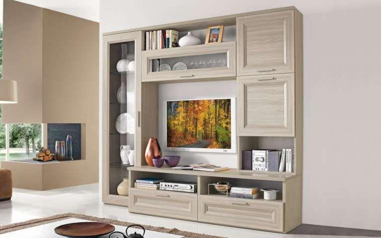 Pareti attrezzate classiche mobili per il soggiorno in for Interni case classiche