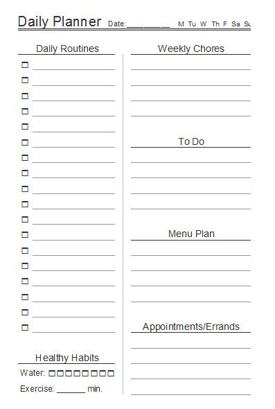 10 Free Printable Daily Planners Pinterest Planners, Free