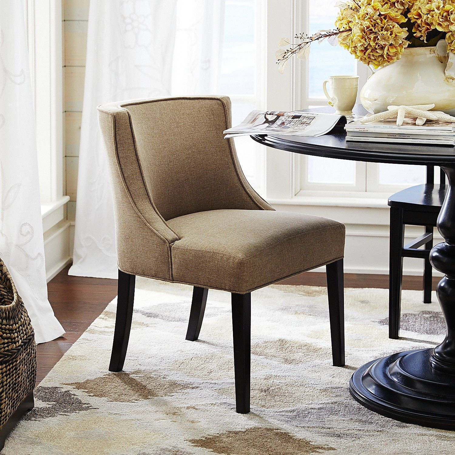 Eva Heather Dining Chair with Espresso Wood | Dining, Espresso and ...