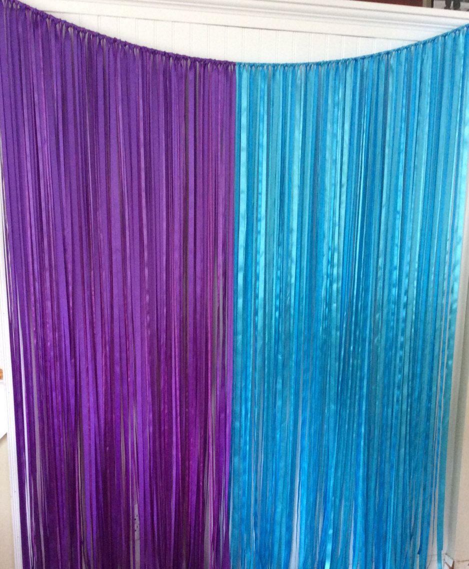 Blue curtain backdrop - Ribbon Backdrop Gender Reveal Backdrop Ribbon Curtain Baby Shower Backdrop Wedding Ribbon