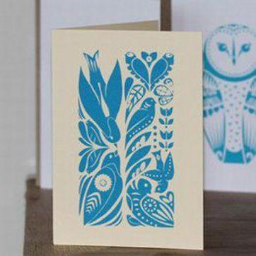 maze of sparrows card
