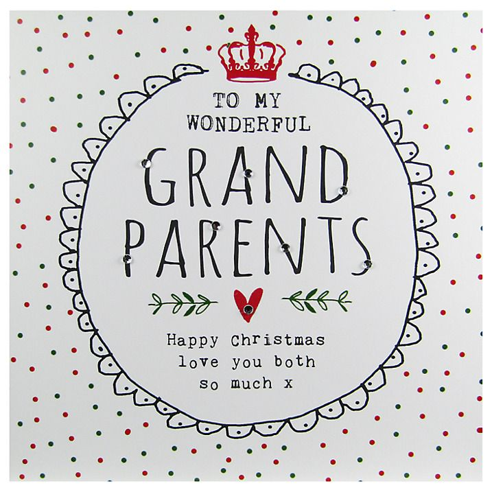 Buy Hammond Gower Grandparents Words Christmas Card Online at