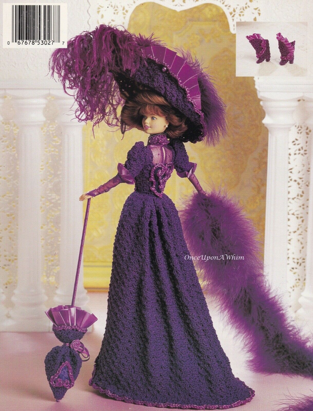 1875 Winter Carriage Costume for Barbie Doll Paradise #29 Crochet PATTERN
