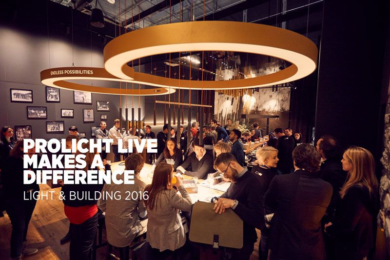 PROLICHT live makes a difference. #prolicht #DARK #lighting #architecturallighting #glorious #goldenheart #booth L+B 2016