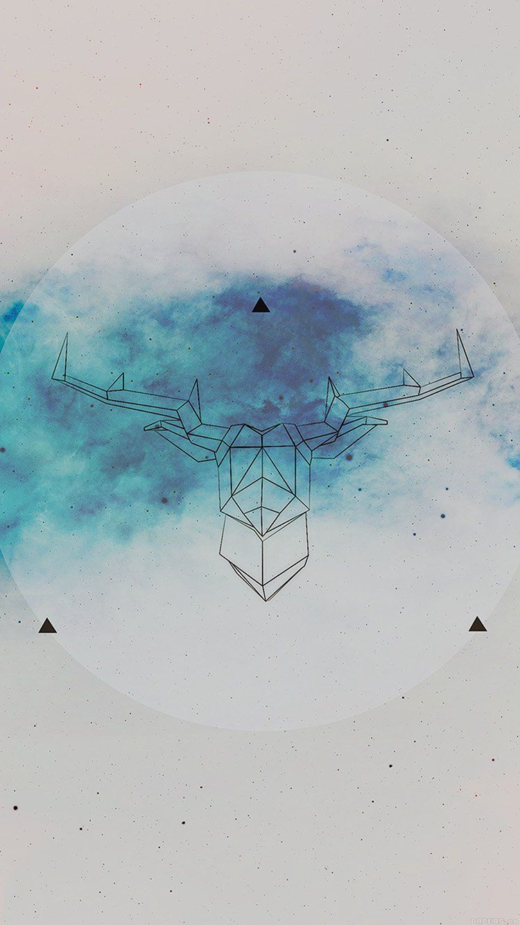 Ai70 Art Illust Deer Space Cool Iphone Wallpaper Hipster Hipster Wallpaper Art Wallpaper Iphone