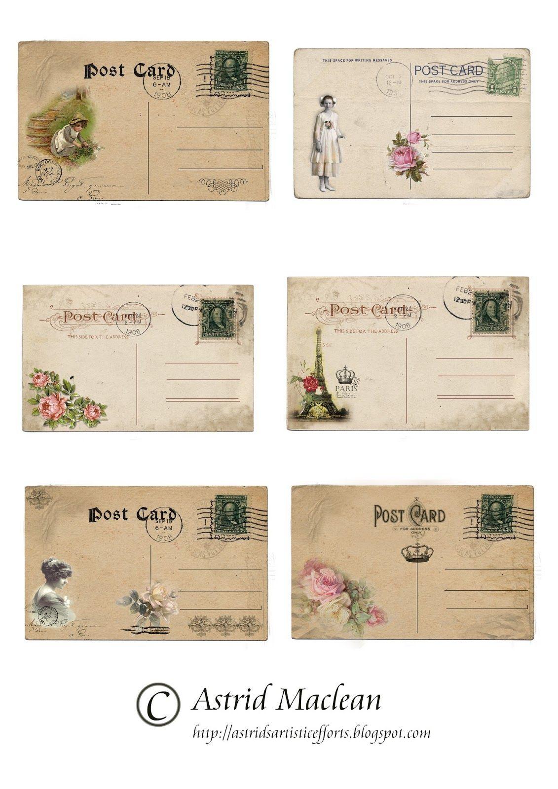 300 Cards Calling Cards Postcards Antique scrapbooking