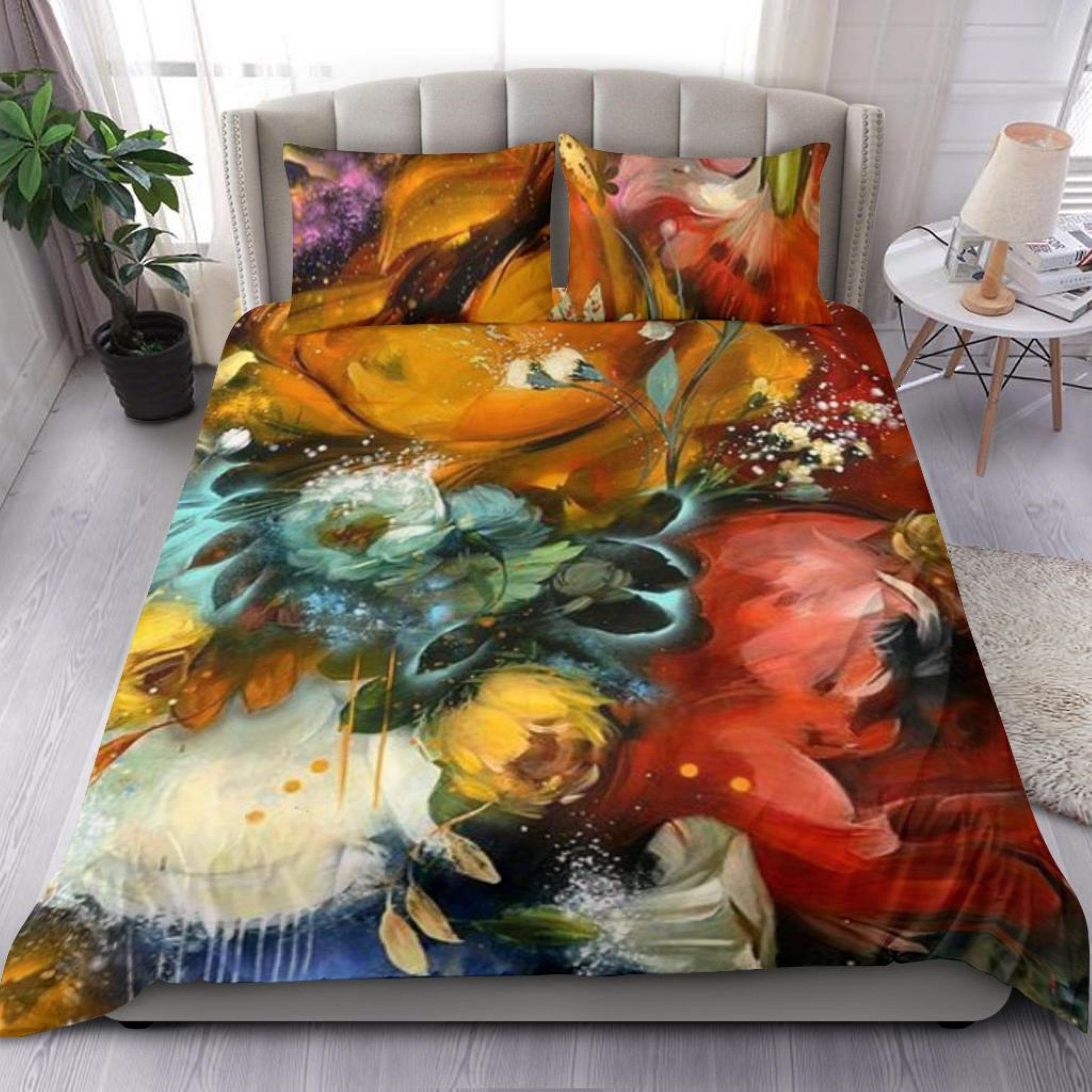 Photo of Floral Duvet Cover – Bedding Set – Decoupage Flower Bed Shee…